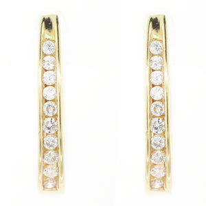 IN & OUT HOOP 18k Yellow Gold 0.50ctw Diamond Earrings