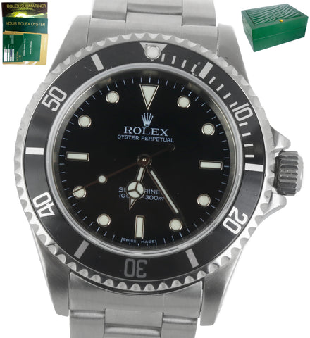 2007 Rolex Submariner No-Date 14060 M Z Series Stainless Black Dive Watch