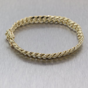 Modern 47.36g 14k Yellow Gold Men's Cuban Link Chain Bracelet