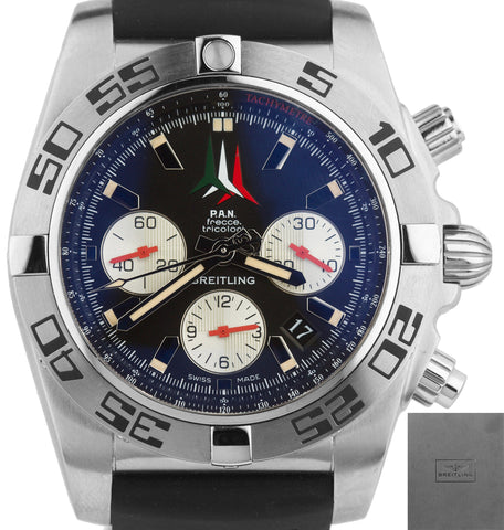 Breitling Chronomat 44 P.A.N. Frecce Tricolori AB01104D/BC62-153S 44mm Watch