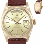 VTG Rolex Day-Date President Champagne 36mm 18038 18K Yellow Gold Watch