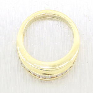 1980's Vintage Estate 14k Yellow Gold Baguette 1.00ctw Diamond Wedding Band Ring