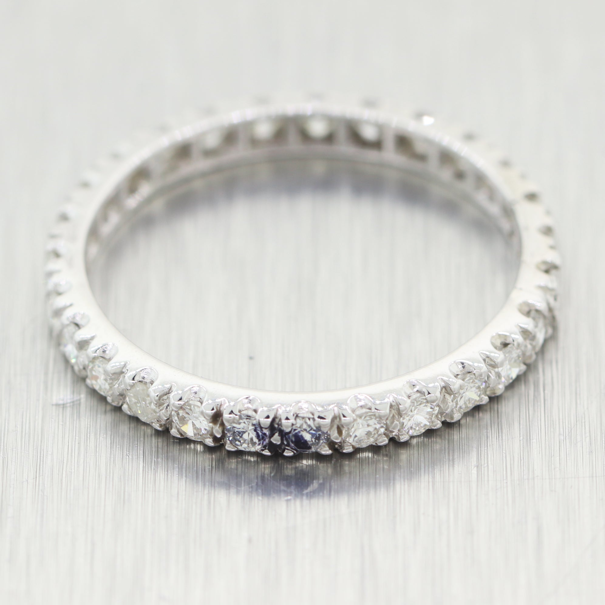 Antique Art Deco Platinum 1ctw Diamond Eternity Band Ring