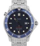 MINT Omega Seamaster Professional 300M Blue Red Wave Quartz 41mm 2221.80 Watch