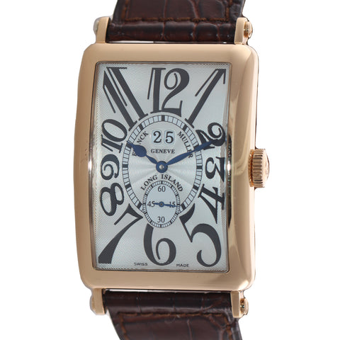 "2007 PAPERS Franck Muller Long Island 1200 S6 GG ROSE GOLD ""BIG DATE"" Watch Box"