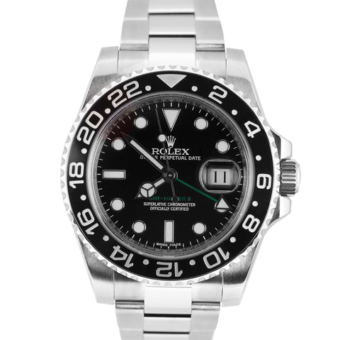2018 MINT Rolex GMT-Master II Stainless Black 40mm Ceramic 116710 LN Date Watch