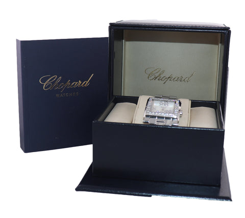 PAPERS Ladies Chopard Happy Sport 7 Diamond 278496-3001 30mm Quartz MOP Watch