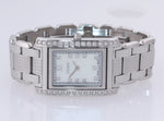 MINT Ladies Fendi Flip MOP Diamond Steel 004-7600M-411 27mm Quartz Watch