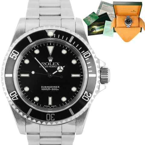 2001 UNPOLISHED Rolex Submariner No-Date 14060 P Stainless Black Dive 40mm Watch