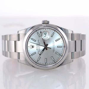 2020 STICKERS NEW PAPERS Rolex DateJust Silver 36mm 126200 Steel Watch Box