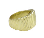 Authentic David Yurman 18K 750 Yellow Gold Wide Cable Cigar Band Ring