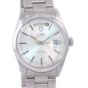 SERVICED Tudor Rolex Day-Date Jumbo Steel 7017 38mm Silver Stick Automatic Watch