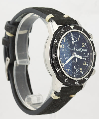 1990s Bell & Ross by Sinn Chronograph Black Stainless Date Function 40mm Watch