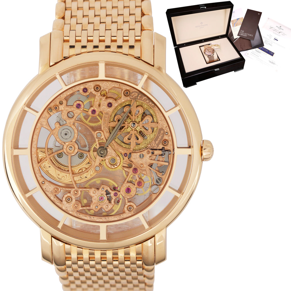 Patek Philippe Calatrava Complications 18K Rose Gold Skeleton Watch 5180/1R-001