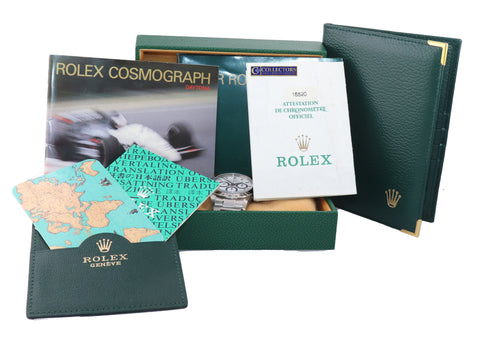 PAPERS NOS NEW Stickers Rolex 16520 Zenith Daytona White Dial Watch Steel Watch