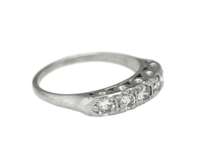 Ladies Modern Estate Platinum 0.45ctw Diamond 4mm Wide Wedding Band Ring