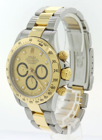 Rolex Daytona Zenith 16523 Two Tone 18k Gold Cosmograph Diamond SEL Watch G8