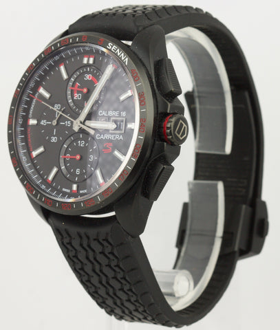 Men's Tag Heuer Ayrtron Chrono Senna Edition CBB2080 43mm Black Titanium Watch