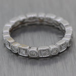 Vintage Estate 14k White Gold 0.50ctw Diamond Wedding Band Ring