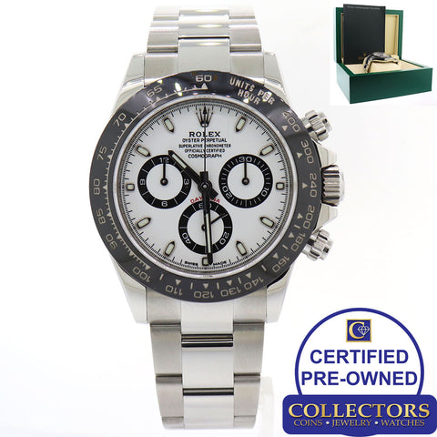 2018 NEW STYLE Rolex Daytona 116500LN White Ceramic Steel Cosmograph Watch G8