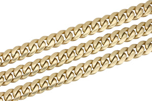 "Men's Solid Heavy 14K Yellow Gold 8mm Cuban Link Chain 26.00"" Necklace 124.3gr"