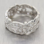 1930's Antique Art Deco Platinum 1.80ctw Diamond Filigree Ring