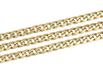 "Italian Men's 14K 585 Yellow Gold 6mm Curb Link Chain 27.00"" Necklace 57.9gr"