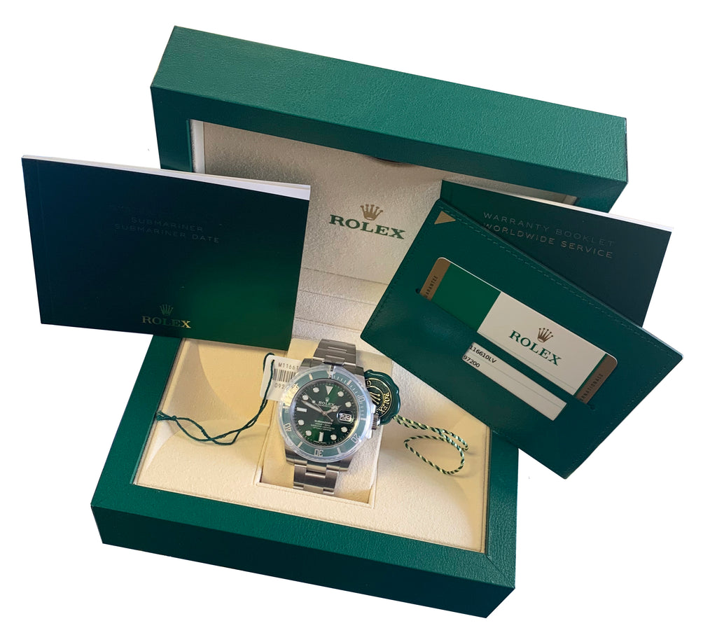 NEW JULY 2019 Rolex Submariner Date Hulk 116610 LV Green Ceramic 40mm Watch