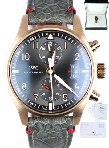 IWC Spitfire Chronograph 18K Rose Gold 43mm Automatic IW387803 3878-03 Watch
