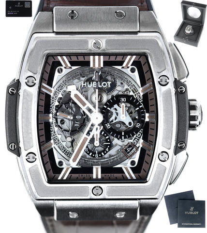 NEW Hublot Spirit of Big Bang Boutique Brown 45mm Auto 601.NX.3171.LR Titanium