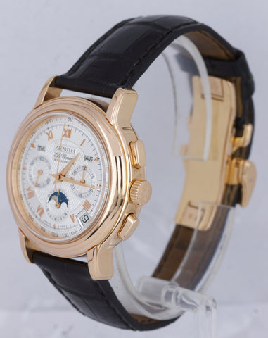 Zenith El Primero Chronomaster Moonphase 40mm 18K Rose Gold Watch 17.0240.410