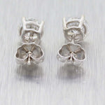 14k Solid White Gold 6mm 2.01ctw Round Solitaire Classic Diamond Stud Earrings