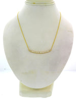 Modern Estate 14k Yellow Gold .50ctw I/SI1 Diamond Bar Chain Necklace G8