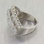 1930's Antique Art Deco 14k White Gold 0.80ctw Diamond Ring