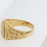 Men's Antique Vintage Estate 14k Yellow Gold Diamond Signet Ring