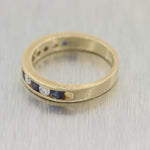 Vintage Estate 14k Yellow Gold 0.30ctw Sapphire & 0.35ctw Diamond Ring