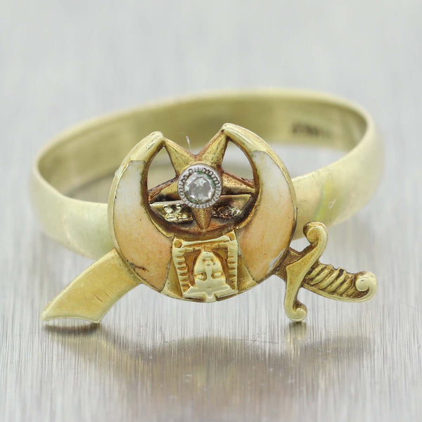 1880s Antique Victorian Egyptian Revival Band Ring