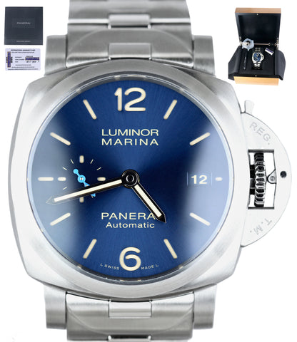 NEW 2020 Panerai Luminor Marina Blue Stainless Steel PAM 1028 42mm PAM01028