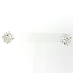 Modern Estate 14k Solid White Gold 7.76ctw Diamond Stud Earrings GIA EGL