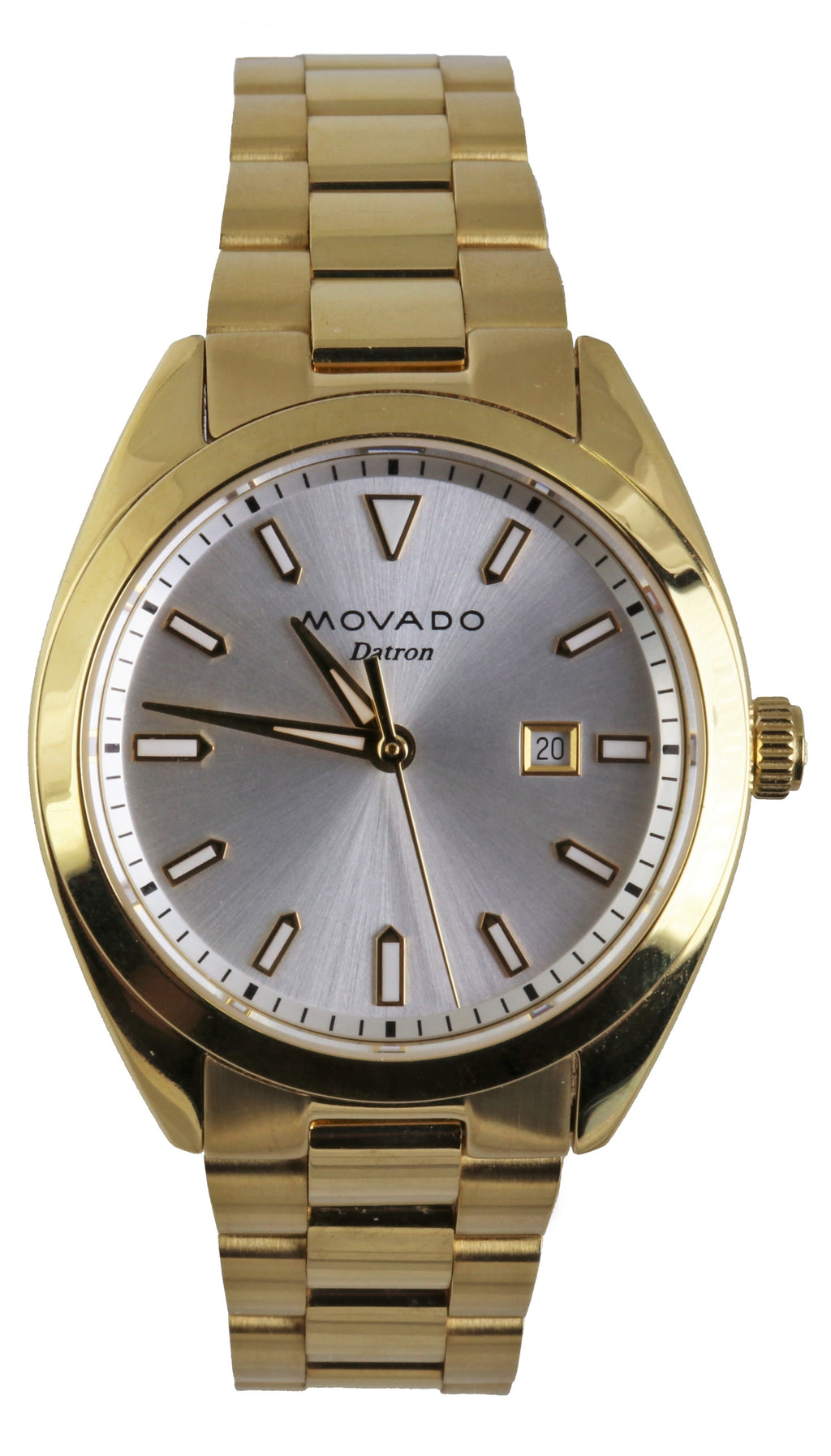 Ladies Movado Heritage Series Datron Gold Plated Quartz 31mm Watch