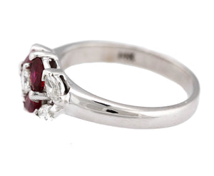 Lovely Ladies Estate 14K White Gold 0.68ctw Pink Rhodolite Diamond Cocktail Ring