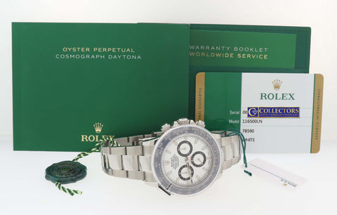2018 NEW STYLE Rolex Daytona 116500 LN White Ceramic Cosmograph Watch Papers G8