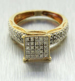 Joe Rodeo 10k Solid Yellow Gold 1.60ctw Diamond Square Bridal Set