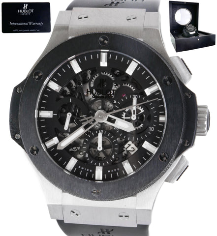 Mint Hublot Aero Bang 311.SM.1170.GR Stainless Black Automatic Men's Watch
