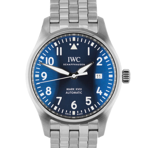 IWC Pilot's Watch Mark XVIII Le Petit Prince Stainless Steel Blue 40mm IW327016