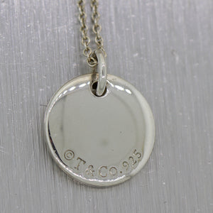 "Tiffany & Co. Sterling Silver ""O"" Notes Alphabet Charm 16"" Necklace"