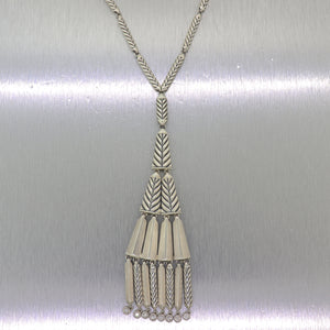 "David Yurman Special Edition Sterling Silver 0.40ctw Diamond Dangle 24"" Necklace"