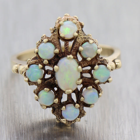 Vintage Estate 14k Yellow Gold 1.50ctw Opal Ring