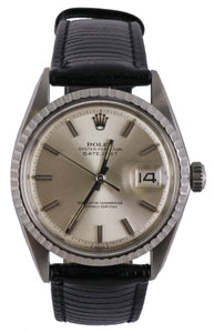 Vintage 1971 Rolex DateJust 36mm 1603 Toned SIlver Stainless Strap Watch 16030