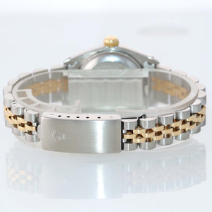 PAPERS Ladies Rolex 67193 Two Tone 18k Gold 26mm MOP Diamond Watch Box